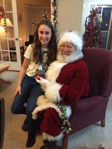 McKennah & Santa