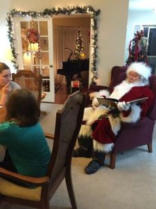 Santa Reading The Night Before Christmas