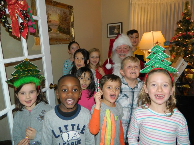 Group with Santa